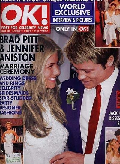 Vjenčanje Brad Pitta i Jennifer Aniston